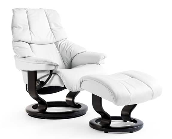 Stressless Tampa leather recliner and ottoman